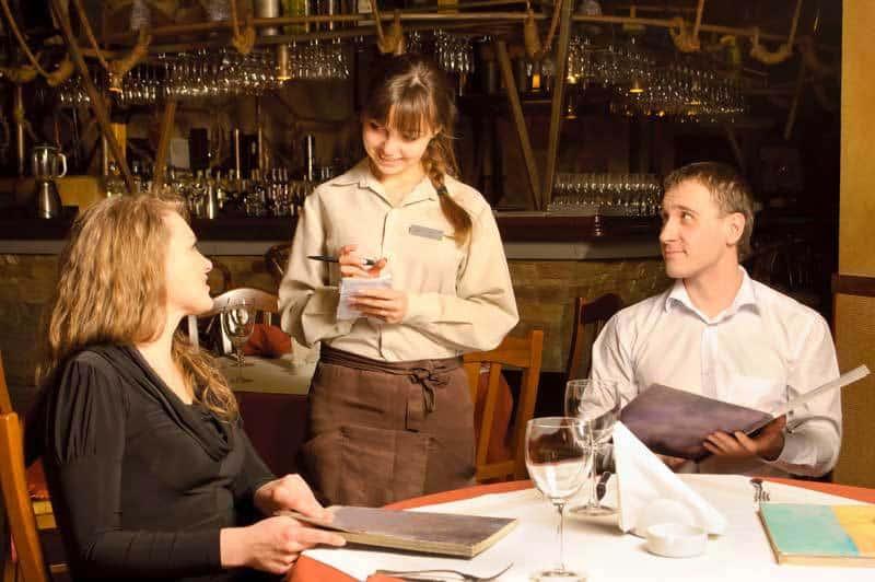 waiter menu